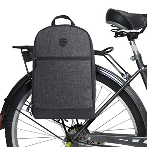 Tourbon Nylon Clip-on Fahrrad Packtaschen Rucksack Fahrrad Laptop-Tasche - Schwarz