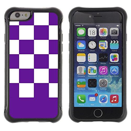 Graphic4You Kariert Muster Design Shockproof Anti-Rutsch Weichen Hülle Case Tasche Schutzhülle für Apple iPhone 6 Plus / 6S Plus (Rosa) Mauve Violet