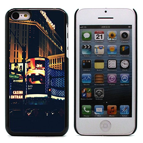 Graphic4You Las Vegas Nevada Fun Postkarte Ansichtskarte Design Harte Hülle Case Tasche Schutzhülle für Apple iPhone 5C Design #2