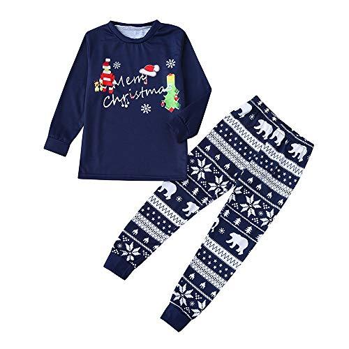 Longzjhd Weihnachten Kleinkind Baby Karikatur Brief Strampler Hirsch Hose Hut Familie Pullover Pyjama Outfits Set Familie Frauen Passenden Weihnachten Pyjamas Nachtwäsche