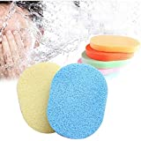 FOK Set Of 2Pcs Face Cleansing Sponge Puff Makeup Washing Pad Deep Cleansing & Exfoliating Facial Sponge - Assorted Color