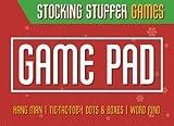 Stocking Stuffer Games: Game Pad: Multi Player Stocking Stuffers, Hang Man, Dots & Boxes, Word Finder, Tic-Tac-Toe