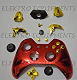 Xbox One Controller Premium Quality Iron Man Chrome Red Shell With Chrome Gold Buttons Replacement Housing Shell
