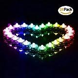 24 Stück LED Teelichter Inklusive Batterien,Wasserdicht Unterwasser LED Kerzen Farbwechsel Flammenlose für Dekoration