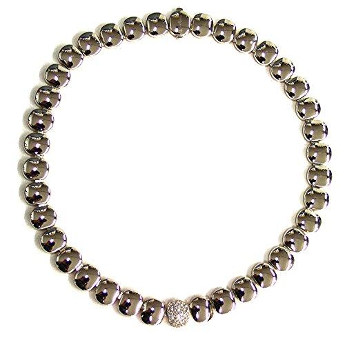 Collana Chimento Double Oro bianco, oro rosè e diamanti pavè PT0,39 1G04715B39370