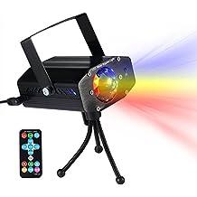 La onda de agua portátil se compone del proyector compacto de la ondulación, 3 modos de iluminación, multicolor, función accionada por sonido, controlador remoto
