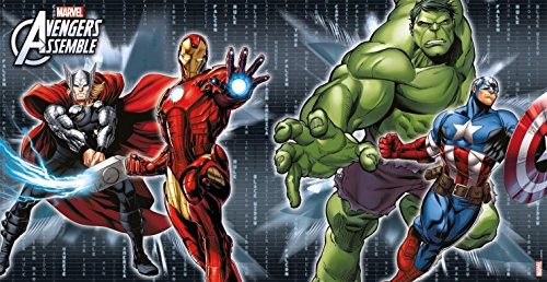 Marvel-Avengers-Assemble-Scene-Setter-Wand-Dekoration-5-ft-x-25-FT
