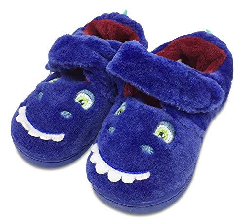 Snooze Time Boys Blue Dinosaur Super Soft Cosy Plush Pyjama PJs Slippers