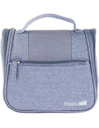 LAZYKARTS® 2017 Hot Sale Portable Wash Bag Make Up Cosmetics Bag Case Toiletry Organizer Storage-GREY