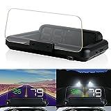 PolarLander C500 HD Proyector Head up Display Velocímetro Digital Car HUD OBD2 Proyector de parabrisas Stereo Imaging 8 Modo de visualización HUD