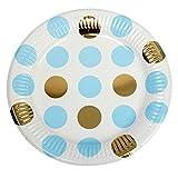 Neviti Pattern Works Partyteller, Punkte, Blau