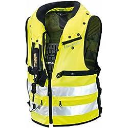 SPIDI Chaleco de Protección para Moto, Amarillo Fluorescente, M