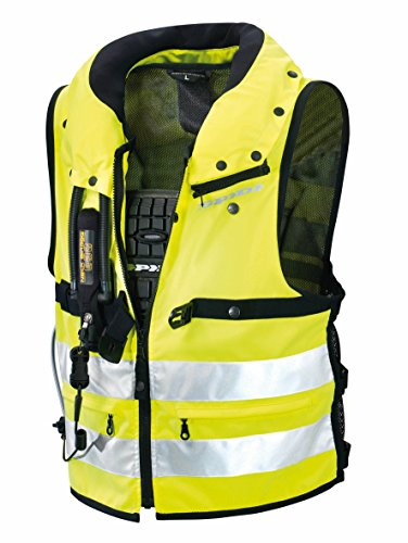 Spidi - Giacca in Tessuto Safety Protection Neck DPS, Giallo Fluo, M