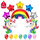 Formemory Einhorn Unicorn Luftballon Regenbogen Ballon Star Folienballon Riesenballon Heliumballon Rainbow Unicorn Set , Hochzeit Kindergeburtstag Geburtstag Ballon Party & Dekoration.