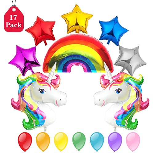 (Formemory Einhorn Unicorn Luftballon Regenbogen Ballon Star Folienballon Riesenballon Heliumballon Rainbow Unicorn Set , Hochzeit Kindergeburtstag Geburtstag Ballon Party & Dekoration.)