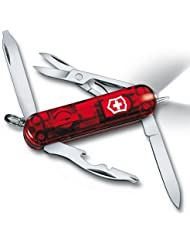 Victorinox - Couteau Suisse Victorinox Midnite Manager Rubin 0.6366.T Rouge - 10 Fonctions