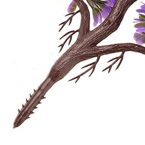 Kompassswc künstlicher bonsaibaum Kunstbonsai Kunstpflanzen MIT Töpfchen Zimmer Party Dekor Kunstbäume Topfpflanzen 26cm Höhe (Grün) - 6