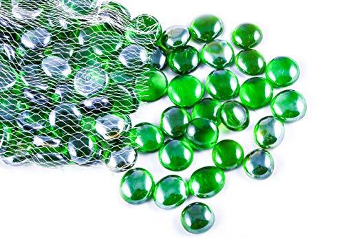 ARSUK Kiesel, gerundete Dekorsteine, für Vasen und Dekoration, Marbles, Glasmurmeln, Wohnaccessoires & Dekoartikel (100 Stück /500grams Grüne Kieselsteine)