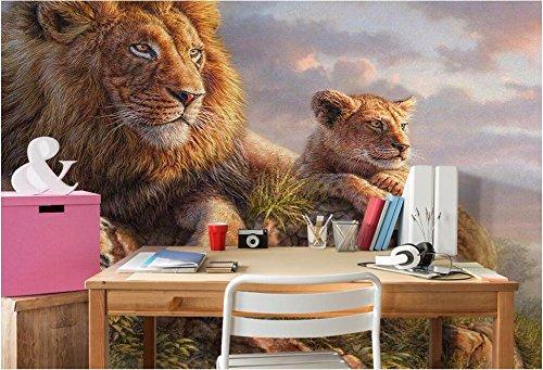 Preisvergleich Produktbild Wxlsl 3D Wandbilder Tapete Für Wohnzimmer Wände 3 D Fototapete Löwe Im Gras Bild Wohnkultur Benutzerdefinierte Wandmalerei-200cmx140cm