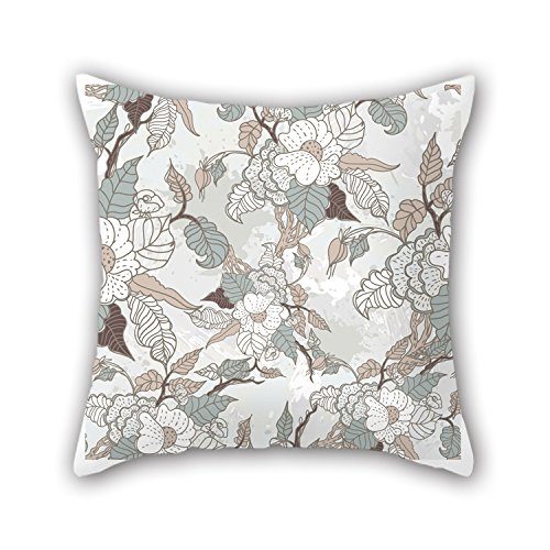 Alphadecor Flower Throw Pillow Case 18 X 18 Inches / 45 By 45 Cm Best Choice For Outdoor Son Sofa Dinning Room Bar Seat Bedroom With Two Sides