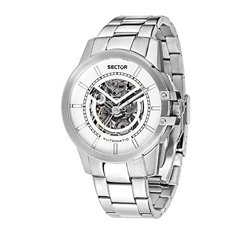 SECTOR Herren Analog Automatik Uhr mit Edelstahl Armband R3223597001