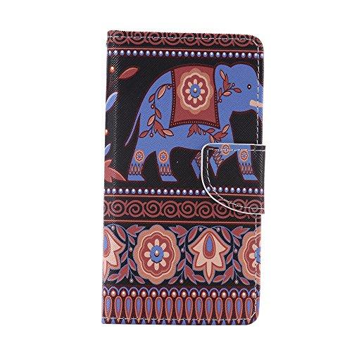 Nancen Compatible with Handyhülle BQ Aquaris M5 (5.0 Zoll) Handy Lederhülle, Flip Case Wallet Cover with Stand Function, Folio Bookstyle Handytasche