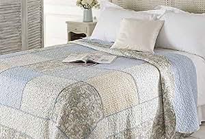 Walton & Co Lifestyle - Charlotte Patchwork Bedspread - 280cm x 260cm
