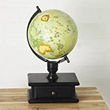 Casa D??cor Utopia World Globe with Storage Drawer (Sea Green)