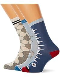 Melton 3er Pack Socken Jungs Im Fröhlichen Farb-Mix, Calcetines para Hombre, Mehrfarbig (Boy 098), 41(Pack de 3)