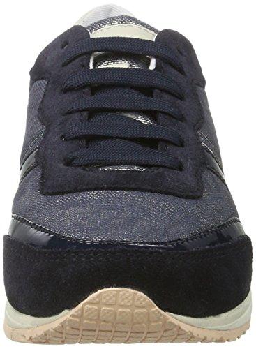Geox D Wisdom D, Sneakers Basses Femme Bleu (Denim/navyc4192)