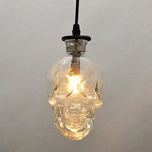 RAING Lámpara de Techo de Calavera, Loft Vintage Bar Restaurante Lámpara de Calavera E14 110V220V Ancho 16C Alto 16Cm Longitud de Colgar 1M