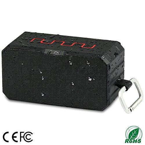 Bluetooth Ducha altavoz, Smilin resistente al agua inalámbrico portátil Radio altavoz con FM Radio portátil Bluetooth 4.0estéreo Altavoz–certificado impermeable–inalámbrico que conecta fácilmente a todos los dispositivos Bluetooth–Teléfonos, tabletas, ordenador, Radio