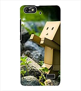 ColourCraft Funny and Creative Design Back Case Cover for HUAWEI HONOR 4C