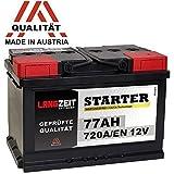 LANGZEIT Autobatterie 12V 77Ah ersetzt 70AH 72AH 74AH 75AH 77AH 80AH 68AH