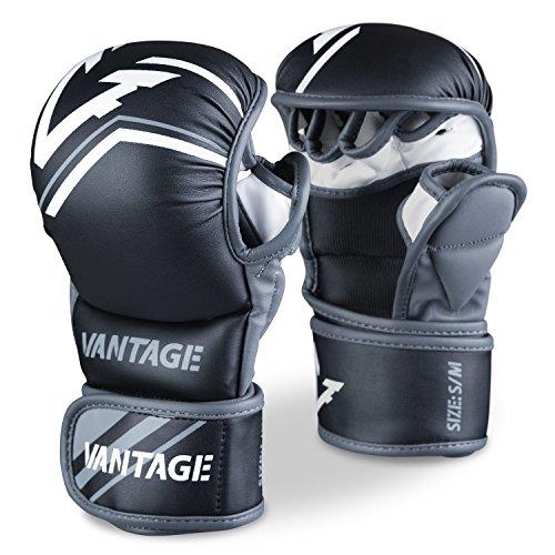 Vantage Herren Hand Schuhe, Weiß, S/M (Combat Sports Handschuhe)
