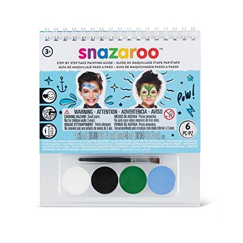 Snazaroo Mini Schminkbuch Set Jungen, 2er Pack (2 x 1 Stück)
