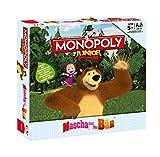 Winning Moves - 44802 - Monopoly Junior Masha und der Bär Spiel Brettspiel für Kinder