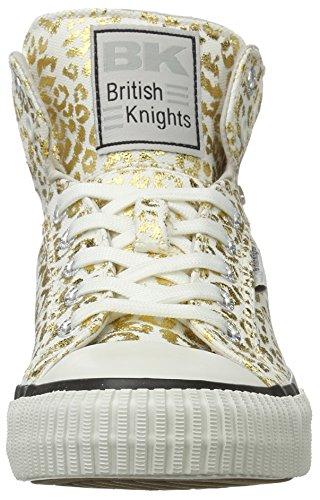 British Knights Dee, Basses femme Weiß (off white/gold leopard)