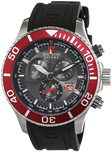 Swiss Military Hanowa Herren-Armbanduhr XL IMMERSION Chrono Analog Quarz Silikon 06-4226.04.009