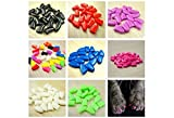 New 20Pcs/Lot Colorful Soft Pet Dog Cats Kitten Paw Claws Control Nail Caps Cover #apowu522# (color: Black,size: M)