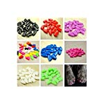 Qiao Niuniu New 20Pcs/Lot Colorful Soft Pet Dog Cats Kitten Paw Claws Control Nail Caps Cover #apowu522# (color: Red… 11