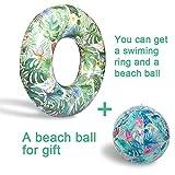 YOUYONGSR 103 cm Wald aufblasbare Swimming-Ring riesen Pool schwimmen Wasser Spielzeug aufblasbare Matratze für Erwachsene Strand Meer Party Donut Grün