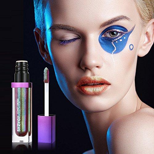 SYZYGY Lápiz Labial Líquido, Color para Labios de Larga Duración, Esmalte Brillante para Labios Bicromático, Gloss Altamente Pigmentado, Brillo Iridiscente Labial Radiante Maquillaje, Chatoyant Stone