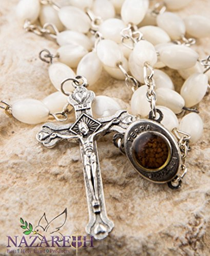 Zoom IMG-2 rosario di perle croce con