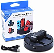 Eookall Joy-Con Charging Dock Station 4 in 1 Switch Controller Charger Seat Compatible with Nintendo Switch Jo