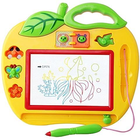 Ardoise Magique Tableau De Dessin Magnétique pour Fille et Garçon 18 mois, Carnet De Croquis Dessin Effaçable Aimant pour Bébés et Enfants 3 Ans - Jouet Simple Educatif -