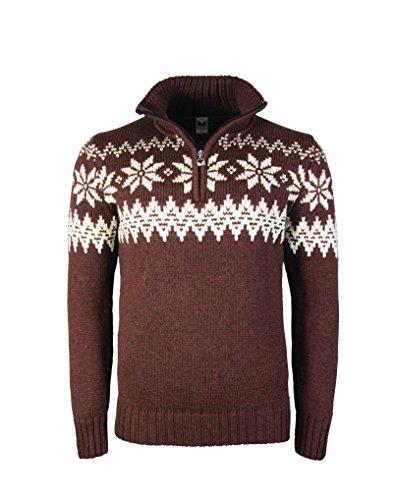 Vallata of Norvegia maglione Myking maschile Marrone - Firewood