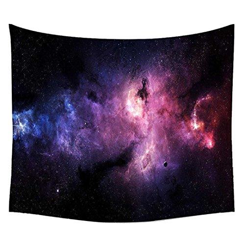 Snoogg Sterne Galaxien violett Wandteppichen indischen Mandala Tapisserie Dekorative Wohnheim Wandteppichen Beach Picknick Tabelle Hippie Tapisserie Wand, Bohemian