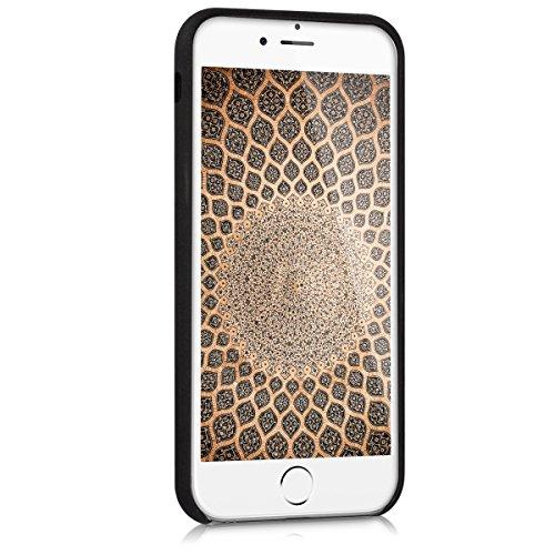 kwmobile Cover per Apple iPhone 6 / 6S - Custodia morbida in simil pelle per cellulare - Back cover Soft Case protettiva Design ecopelle marrone scuro cut out cerchio nero