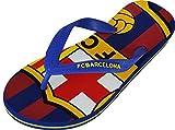 """Flip-Flops im """"Barça""""-Design, offizielles Produkt von FC Barcelona, Erwachsenengröße, für Herren, blau - blau - Größe: 37/38"""